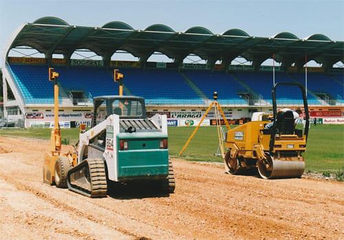 Terrassement du stade Aimé Giral