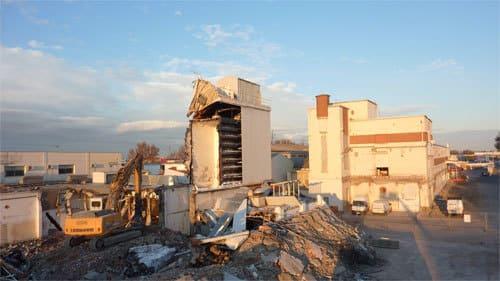 Démolition de l'ancienne usine Cantalou